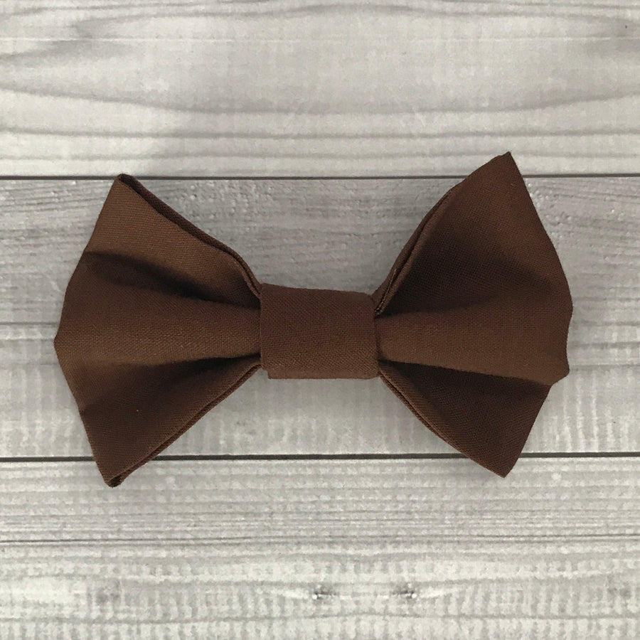 Cocoa Bean Dog Bow