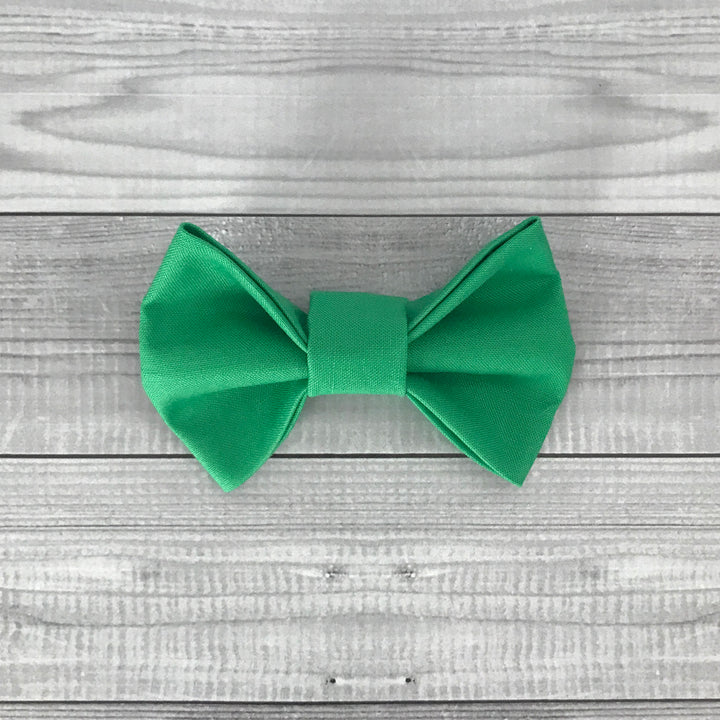 Green Envy Dog Bow