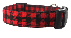 Buffalo Plaid Dog Collar - Collars by Design