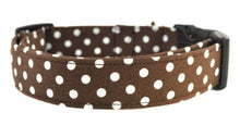 Load image into Gallery viewer, Dots in Brown Dog Collar - Collars by Design