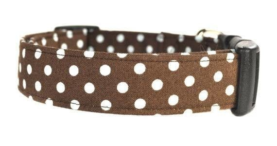 Dots in Brown Dog Collar - Collars by Design