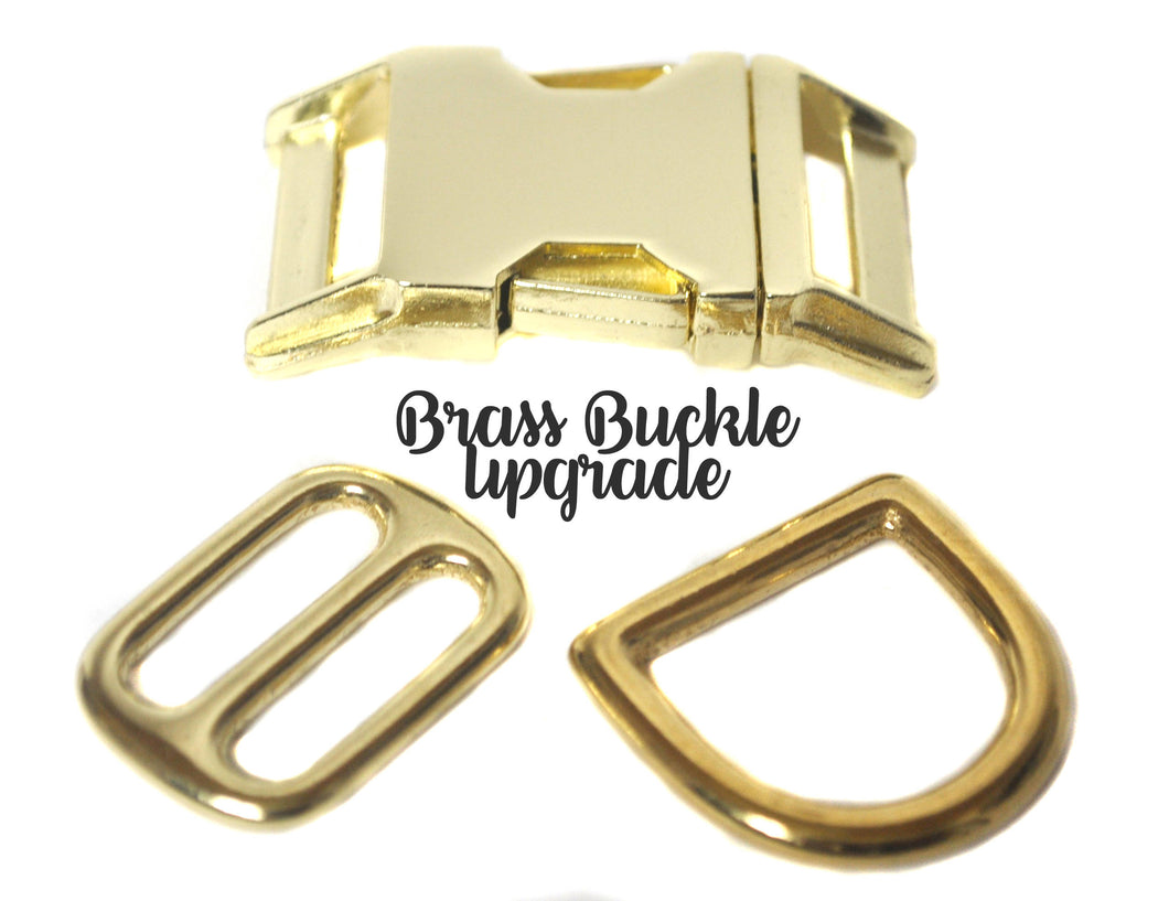Brass Buckle Upgrade - Collars by Design