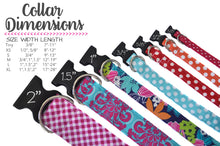 Load image into Gallery viewer, Aqua and White Polka Dot Dog Collar - Collars by Design