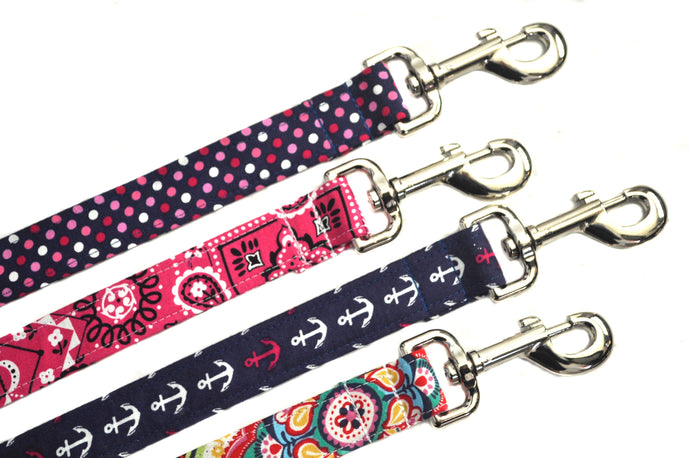 Custom Leash to Match Your Collar - Your Choice of Fabric and Size - Collars by Design