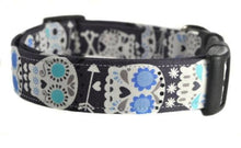 Load image into Gallery viewer, Sugar Skulls in Gray Dog Collar - Collars by Design