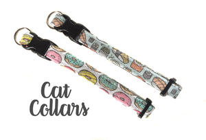 Cat Collar - Your Choice of Fabric and Size - Collars by Design