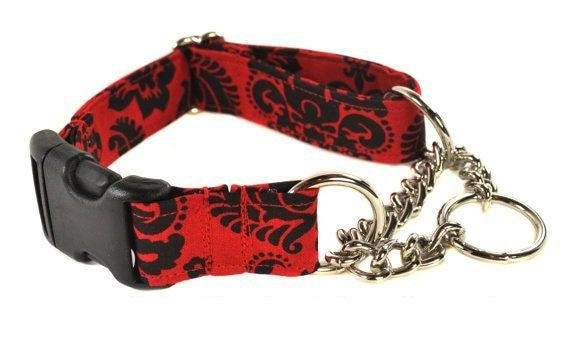 Buckle Chain Martingale Collar - You Pick the Fabric - Collars by Design
