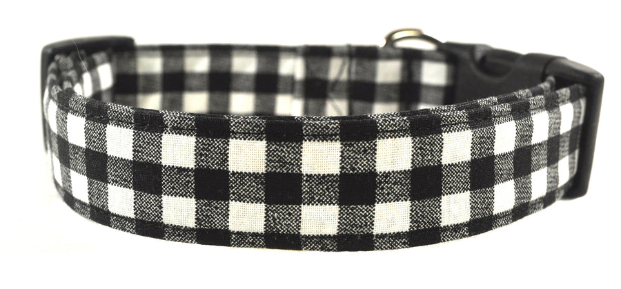 Black and White Checkered Dog Collar - Collars by Design