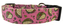 Load image into Gallery viewer, Taco Tuesday in Pink Dog Collar - Collars by Design