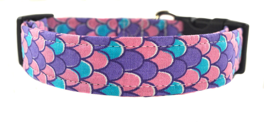 Mermaid in Purple Dog Collar - Collars by Design