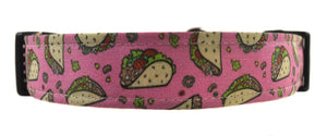 Taco Tuesday in Pink Dog Collar - Collars by Design