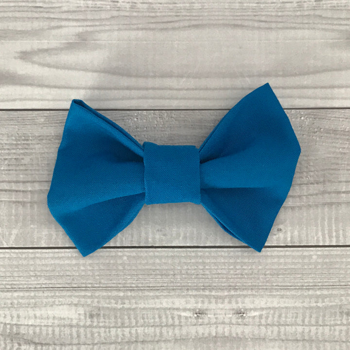 Midnight Blue Dog Bow