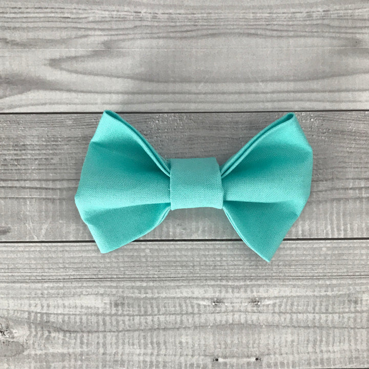 Ocean Blue Dog Bow
