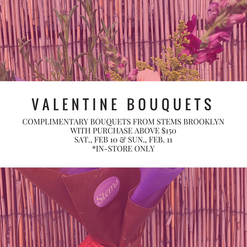 BE OUR VALENTINE! Complimentary Bouquets In Brooklyn.