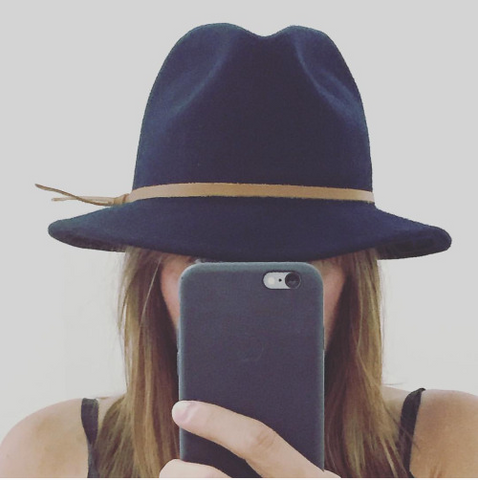 81997c6eea1c6f One of my personal favorites is the Luke Fedora in Navy wool. The caramel  leather trim gives it a polished look. Wear the brim down for a little  mystery (my ...