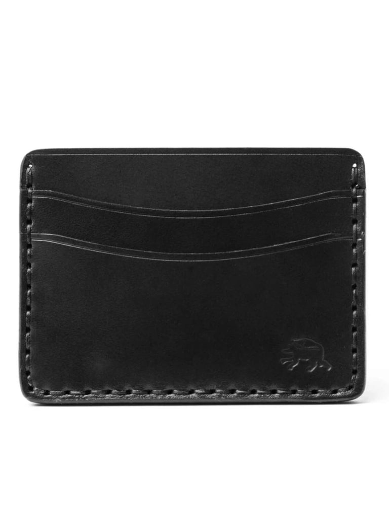 The 5-Pocket wallet is a classic unisex style that features two horizontal card pockets on the front and back, and one large pocket in between the front and back. Hold up to 11 cards and folded cash.