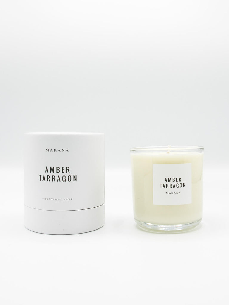 Resinous amber accented by vanilla and fennel, unveiling a heart of fresh tarragon, tuberose and basil, and finished with an accord of sensuous woods. // Hand-poured in-house in small batches using simple, clean ingredients – 100% soy wax, lead-free cotton wicking, and phthalate-free fragrances blended with pure essential oils. - Classic Candle 10 oz