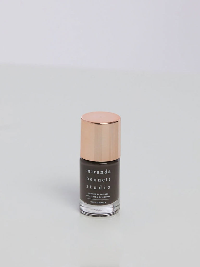 Inspired by the naturally dyed colorways that tint their apparel collection, Miranda Bennett Studio Nail Lacquer is a 7-Free formula of easy to apply, richly pigmented colors that are made in the USA