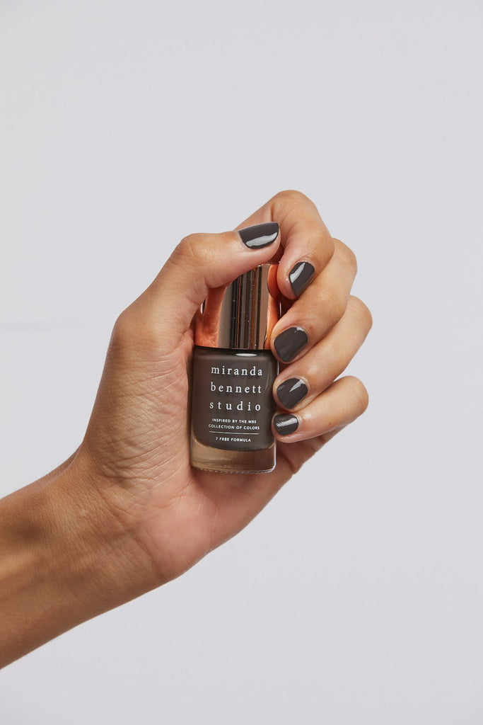Inspired by the naturally dyed colorways that tint their apparel collection, Miranda Bennett Studio Nail Lacquer is a 7-Free formula of easy to apply, richly pigmented colors that are made in the USA. 10ml / .34 oz. Made in the USA.  7-Free Formula, made without  Formaldehyde, Dibutylphthalate (DBP), Toluene, Formaldehyde Resin, and Camphor.