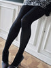 Feel ultra-feminine in these silky smooth tights made from 100 denier recycled premium yarn. Knitted in 3D for the perfect fit. Features a wide, high waistband. Matte finish, full coverage tights.