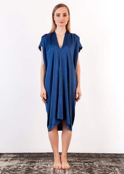 Everyday Dress Silk Charmeuse Indigo