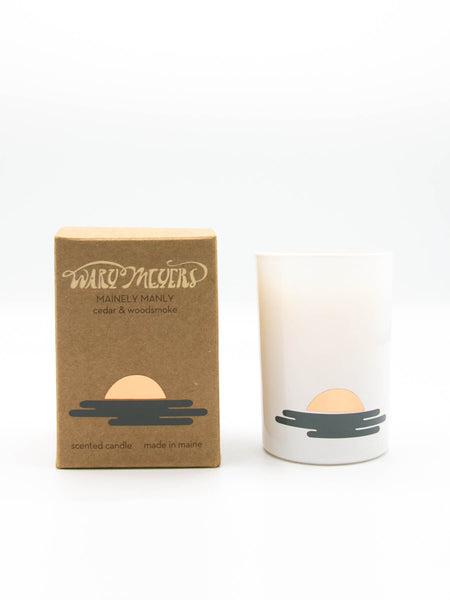 Our candles are made from a blend of premium food grade paraffin (the exact same as what you find on chocolate and cheese), and soy wax. The wick is all cotton. Our oils are the highest quality pthalates-free fragrances infused with essential oils. Our boxes are made from 100% recycled paper. Our glasses are made with recycled glass.