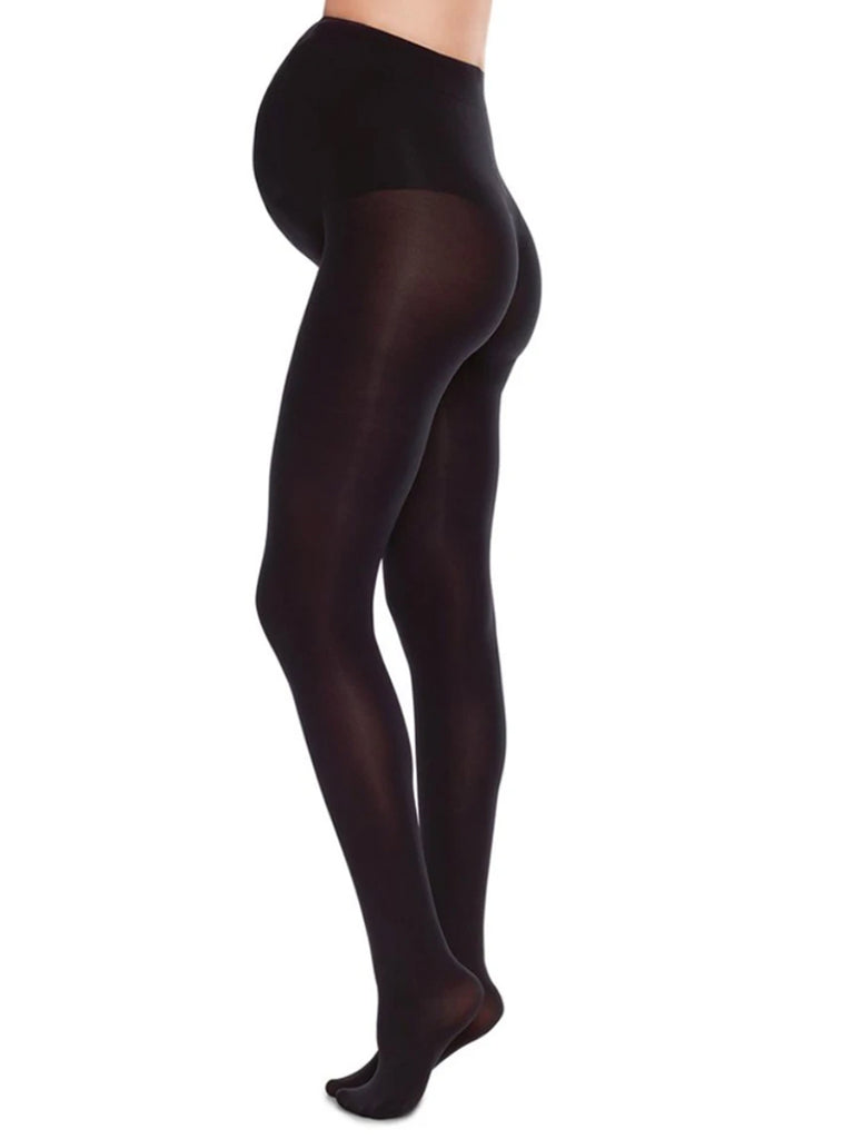 Premium, 60 denier tights for expectant mother. Knitted in 3D using NILIT® Ecocare Recycled Yarn. Provides soft support for an expanding belly while gently covering it. Also provides leg support.