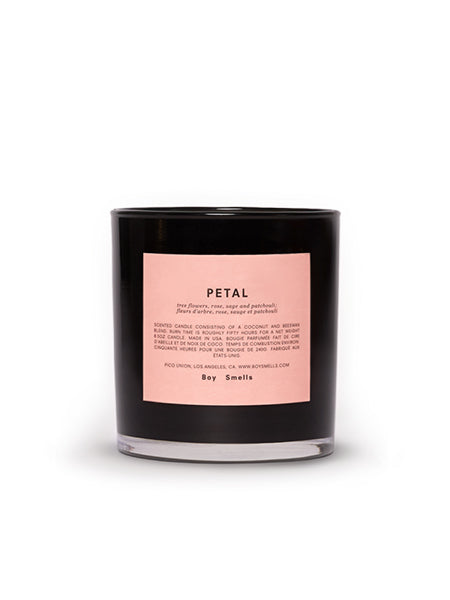 Petal: tree flowers, rose, sage and patchouli  Magnolia, night–blooming tuberose, and purple geranium float you away while golden amber and exotic musk bring you back to earth in this hyper floral concoction.