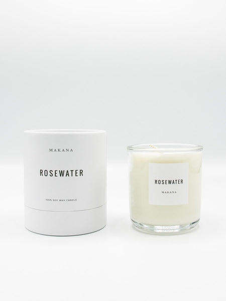 A soft garden rose fragrance with a citrus undertone. Notes of geranium and violet are revealed, while vetiver and rosewood lightly ground this beautiful scent. // Hand-poured in-house in small batches using simple, clean ingredients – 100% soy wax, lead-free cotton wicking, and phthalate-free fragrances blended with pure essential oils. 10oz Candle
