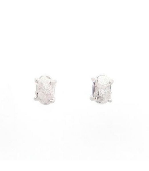 Studs With Raw Diamonds