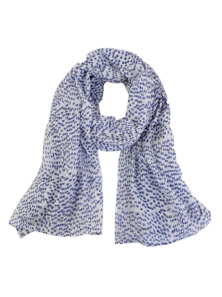 The Shadow Dot Scarf is hand-block printed with non-toxic, AZO-free dyes on the softest, gauziest cotton. A fresh, easy accent piece for any outfit perfect all year long. Designed in our studio, hand-block printed in Jaipur, India.