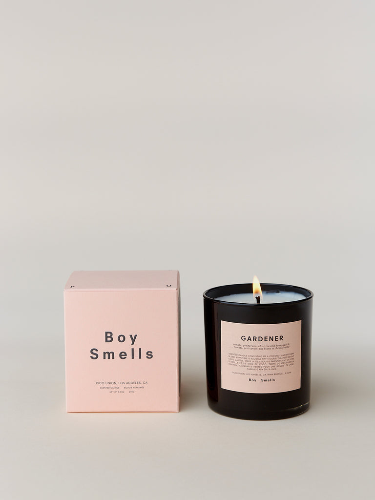 Boy Smell candles are intended to elevate your intimate world. Packaged in pink and conceived beyond the gender binary, Boy Smells candles make loving your identity a daily ritual.