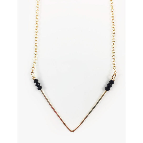 Crystal and Gold Necklace