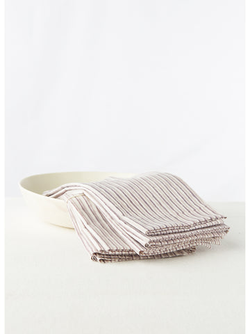 Tribal Stripe Gray Napkins, Set Of 4