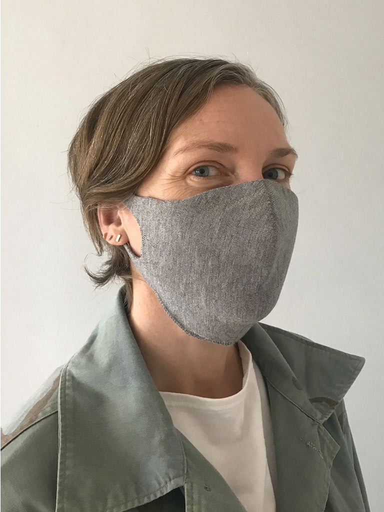 It took awhile, but I finally found a mask that I love! This chic and streamlined design is engineered to fit most adult facial structures. Ear loops are knit with high power lycra for added hold on to face. Soft and comfortable lightweight knit is breathable and kind to skin. Can be worn with or without filter - invisible slit for filter. (Filter not included). Machine washable for use over and over. Made locally in Sunset Park, Brooklyn.