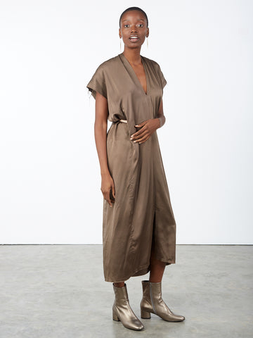 Knot Dress Silk Charmeuse Badlands