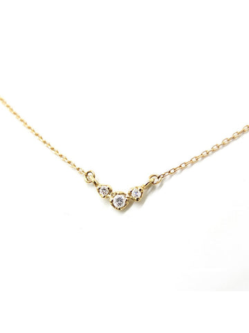 Three Buds Diamond Necklace