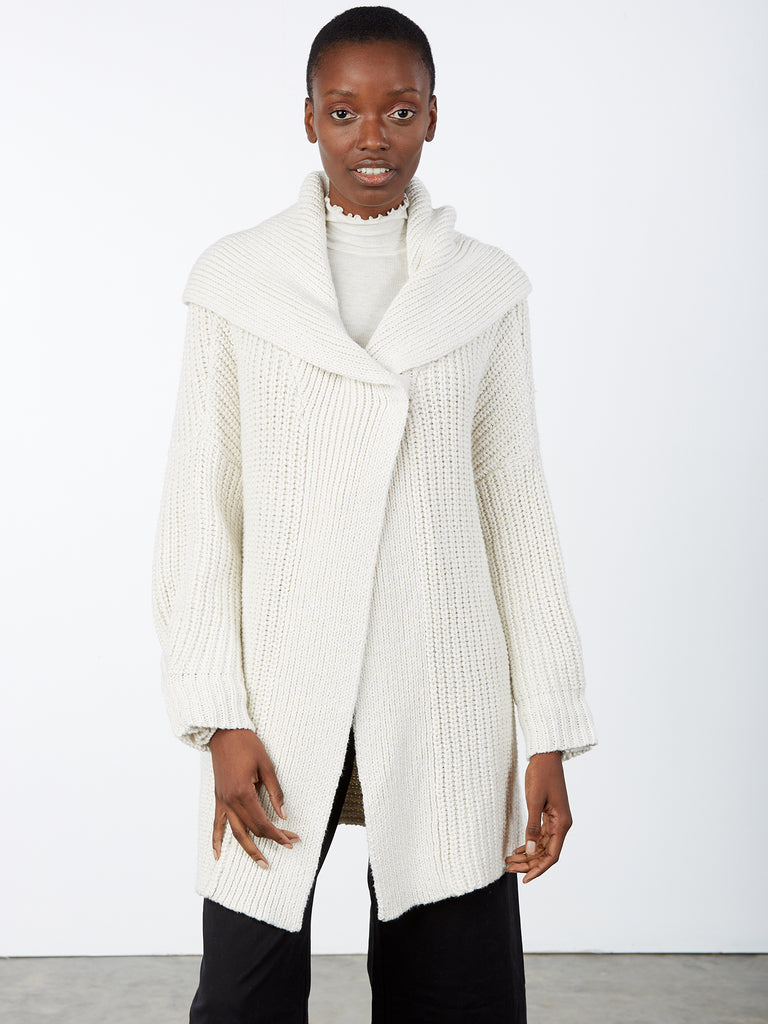Half Cardigan Stitch Sweater Jacket