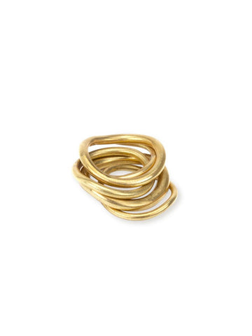 Wavy Stack Ring
