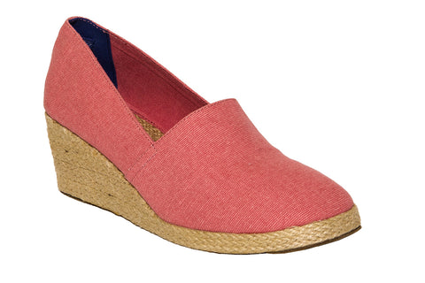 Nantucket Red Wedge Espadrilles