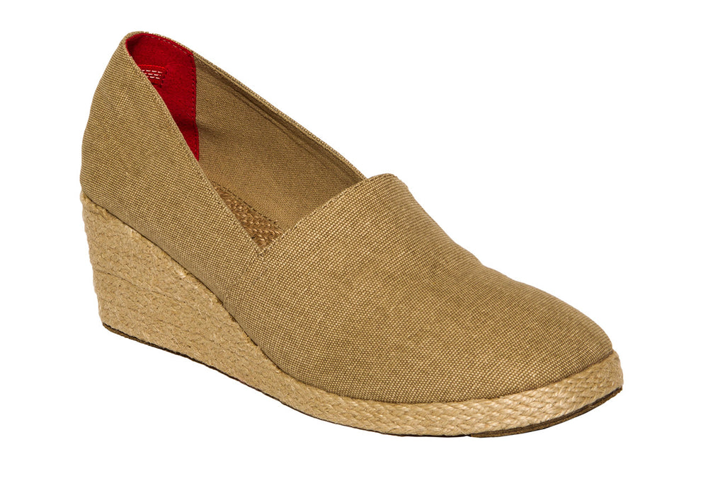Oatmeal Wedge Espadrilles