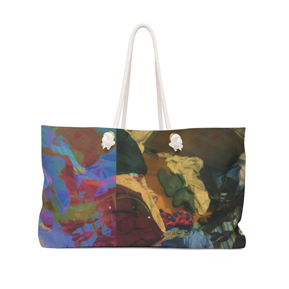 Somebody's Messy Room Weekender Bag Tote Bag Gift for Her Gift for Him Gag Gift Container Weekender Modern Art Abstract Art
