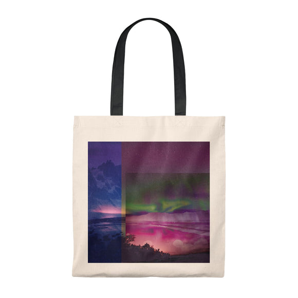 Aurora Borealis Northern Lights Tote Bag Container Green Bag Vintage Tote Bag Iceland Norway Scandinavia Northern Gift for Her Gift for Him