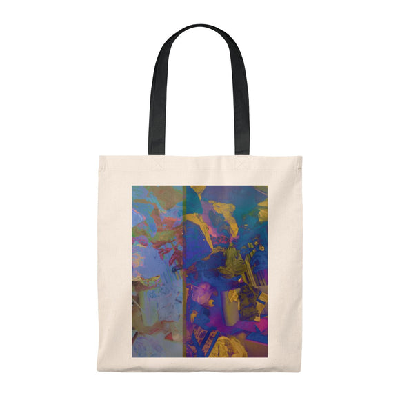 Tote Bag Container 90s Bag 80s Bag Vintage Tote Gift for Her Gift for Him Geometric Tote Purple Tote Modern Art