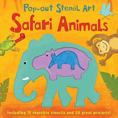 Pop-out Stencil Art: Safari Animals
