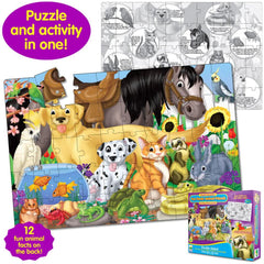 Puzzle Doubles Fun Facts! Animal Friends