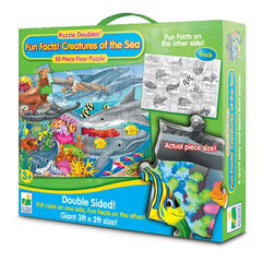Puzzle Doubles Fun Facts! Creatures of the Sea