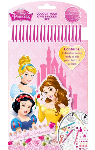 Disney Princess: Colour Your Own Sticker Set