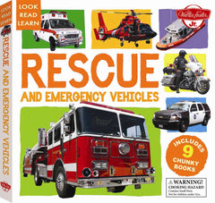 Look Read Learn: Rescue And Emergecy Vehicles
