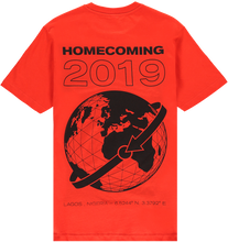 Load image into Gallery viewer, HOMECOMING GLOBE TEE RED